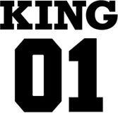 Коллеж короля 01 Дизайн футболки пар Стоковое фото RF