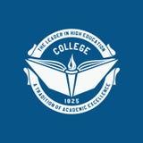 Коллеж логотипа Академия, университет, эмблема школы иллюстрация штока