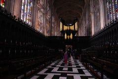 Коллеж ` s короля коллеж университета Кембриджа в Англии стоковая фотография rf