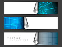 Коллектор вебсайта или комплект знамени. иллюстрация штока