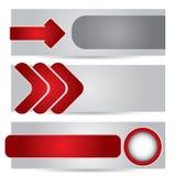 Коллектор вебсайта или комплект знамени иллюстрация вектора