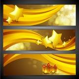 Коллектор вебсайта с Рождеством Христовым или комплект знамени. иллюстрация штока