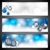 Коллектор вебсайта с Рождеством Христовым или комплект знамени. иллюстрация вектора
