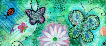 Коллектор искусства год сбора винограда grunge Scrapbooking иллюстрация штока