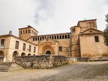 Коллигативная церковь Santillana Del Mar Испании Стоковые Изображения
