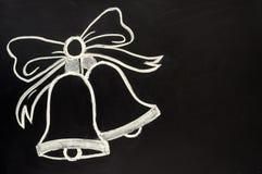 колоколы белят вычерченный jingle мелом стоковое изображение rf