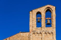 Колокольня базилики Сан Domenico в Ареццо стоковая фотография rf