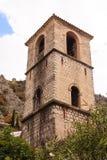 Колокольня за Kotor стоковые изображения