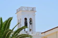 Колокольня красивой церков San Nicolas в Nafplio Архитектура, перемещение, ландшафты, круизы стоковые фотографии rf