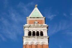 Колокольня Сан Marco, колокольни в Венеции, Италии известный наземный ориентир Стоковая Фотография RF