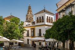 Колокольня собора в Cordoba стоковые изображения rf
