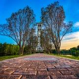 Колокольня Furman в Greenville, Южной Каролине, США стоковое изображение rf