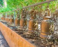 Колокол в виске в Таиланде Стоковая Фотография