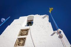 Колокол в церков Panagia Lindos, Греции стоковая фотография