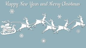 Колокол руки, смычки, ленты, снежинка вектор Вырезывание прокладчика клише Изображение с надписью - веселым рождеством бесплатная иллюстрация