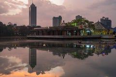 Коломбо Шри-Ланка на заходе солнца стоковое фото
