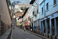 Колониальная архитектура в Кито, эквадоре стоковая фотография rf