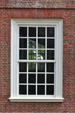 колониальное окно стены Стоковое фото RF
