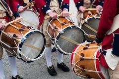 колониальные барабанщики Стоковая Фотография