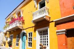колониальный испанский язык дома стоковые фотографии rf