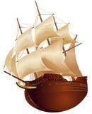 колониальный корабль Стоковые Изображения RF
