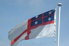 колониальный флаг Новая Зеландия Стоковые Фото