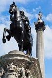 колонка Англия i london Нелсон charles Стоковое Изображение