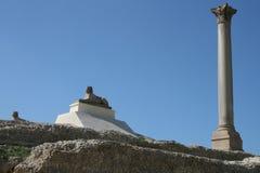 колонка Египет pompeii s alexandria стоковое фото rf