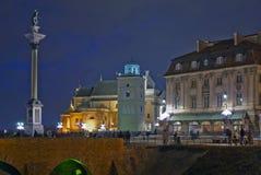 Колонка Sigismund и церковь St Anne Стоковые Фото