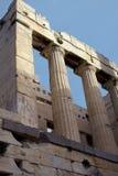 колонки акрополя Стоковая Фотография