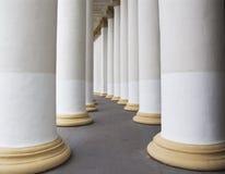 колонки белые Стоковые Фотографии RF