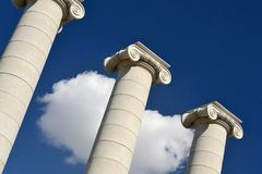 колонки греческие Стоковое Изображение