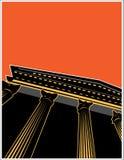 колонки здания Стоковое Изображение