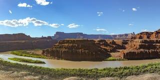 Колорадо и поразительные каньоны в Moab Юте стоковая фотография rf