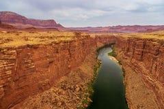 Колорадо по мере того как оно пропускает через мраморный каньон стоковые фотографии rf