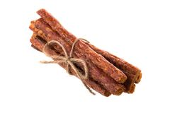 Колотят бар свинины, сухой бар свинины изолированный на белой предпосылке Стоковая Фотография RF