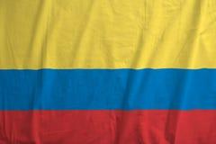 Колумбийский флаг дуя в ветре Стоковое Изображение RF