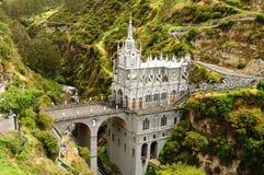 Колумбия, святилище девственницы Las Lajas стоковое фото rf