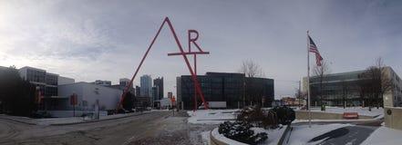 Колумбус, кампус коллежа искусства Огайо стоковые фотографии rf