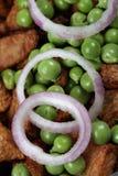 кольца горохов зеленого лука Стоковые Изображения RF