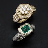 кольца диаманта Стоковое фото RF