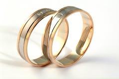 кольца золота диамантов Стоковое Фото