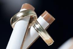 кольца золота 2 Стоковое Фото