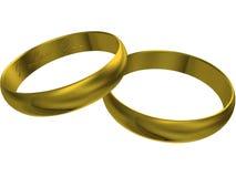 кольца золота 3d wedding Стоковое Фото