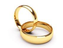 кольца золота wedding Стоковые Изображения RF