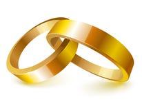 кольца золота wedding иллюстрация штока