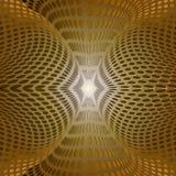 Кольца золотистого зарева Иллюстрация вектора
