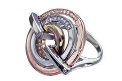 кольца изолированные gemstones Стоковые Фото