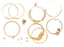 кольца кружки кофе Стоковые Фото