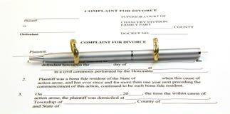 кольца пер бумаги золота развода Стоковое Фото